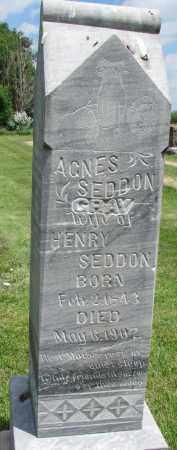 SEDDON, AGNES - Yankton County, South Dakota | AGNES SEDDON - South Dakota Gravestone Photos