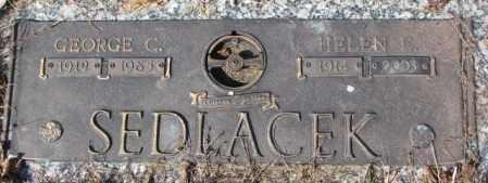 SEDLACEK, HELEN E. - Yankton County, South Dakota | HELEN E. SEDLACEK - South Dakota Gravestone Photos
