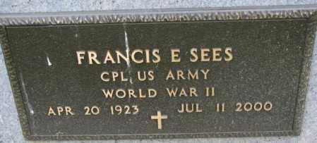 SEES, FRANCIS E. (WW II) - Yankton County, South Dakota | FRANCIS E. (WW II) SEES - South Dakota Gravestone Photos