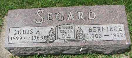 SEGARD, BERNIECE - Yankton County, South Dakota | BERNIECE SEGARD - South Dakota Gravestone Photos