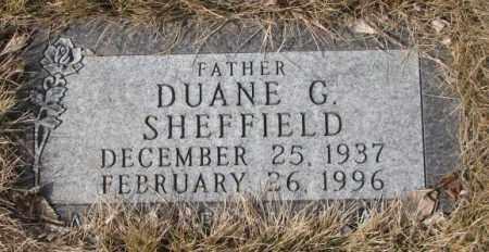 SHEFFIELD, DUANE G. - Yankton County, South Dakota   DUANE G. SHEFFIELD - South Dakota Gravestone Photos