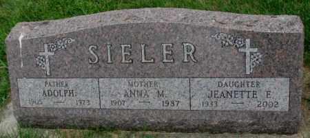 SIELER, ADOLPH - Yankton County, South Dakota | ADOLPH SIELER - South Dakota Gravestone Photos