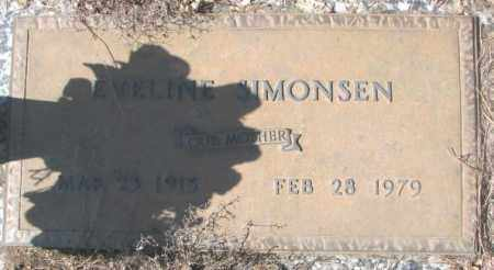 SIMONSEN, EVELINE - Yankton County, South Dakota | EVELINE SIMONSEN - South Dakota Gravestone Photos