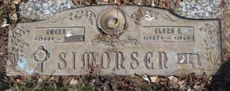 SIMONSEN, CLARA E. - Yankton County, South Dakota   CLARA E. SIMONSEN - South Dakota Gravestone Photos