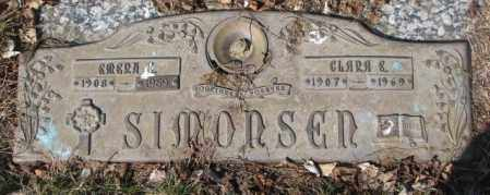 SIMONSEN, CLARA E. - Yankton County, South Dakota | CLARA E. SIMONSEN - South Dakota Gravestone Photos