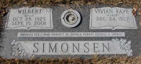SIMONSEN, WILBERT - Yankton County, South Dakota | WILBERT SIMONSEN - South Dakota Gravestone Photos