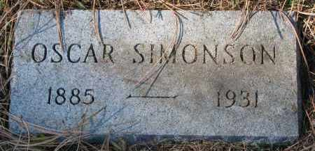 SIMONSON, OSCAR - Yankton County, South Dakota | OSCAR SIMONSON - South Dakota Gravestone Photos