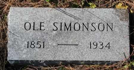 SIMONSON, OLE - Yankton County, South Dakota   OLE SIMONSON - South Dakota Gravestone Photos