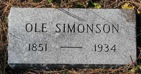 SIMONSON, OLE - Yankton County, South Dakota | OLE SIMONSON - South Dakota Gravestone Photos