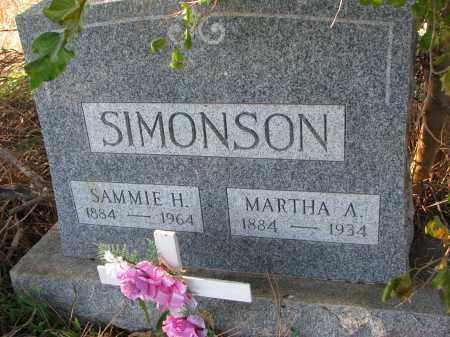 SIMONSON, SAMMIE H. - Yankton County, South Dakota   SAMMIE H. SIMONSON - South Dakota Gravestone Photos