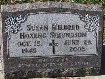 SIMUNDSON, SUSAN MILDRED - Yankton County, South Dakota | SUSAN MILDRED SIMUNDSON - South Dakota Gravestone Photos
