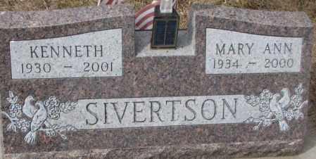 SIVERTSON, MARY ANN - Yankton County, South Dakota | MARY ANN SIVERTSON - South Dakota Gravestone Photos