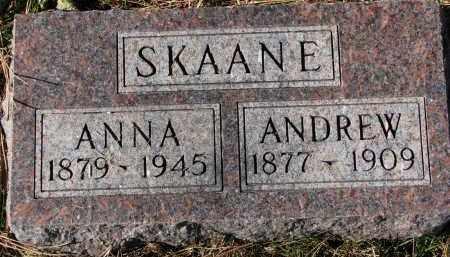 SKAANE, ANDREW - Yankton County, South Dakota | ANDREW SKAANE - South Dakota Gravestone Photos