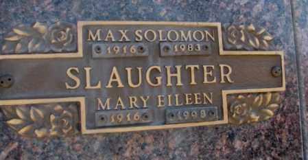 SLAUGHTER, MAX SOLOMON - Yankton County, South Dakota | MAX SOLOMON SLAUGHTER - South Dakota Gravestone Photos