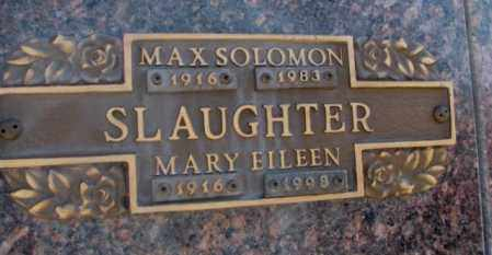 SLAUGHTER, MAX SOLOMON - Yankton County, South Dakota | MAX SOLOMON SLAUGHTER - South Dakota Gravestone Photos