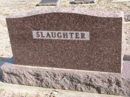 SLAUGHTER, PLOT STONE - Yankton County, South Dakota   PLOT STONE SLAUGHTER - South Dakota Gravestone Photos