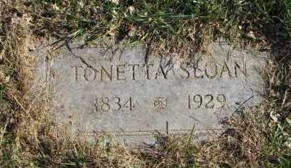 SLOAN, TONETTA - Yankton County, South Dakota   TONETTA SLOAN - South Dakota Gravestone Photos