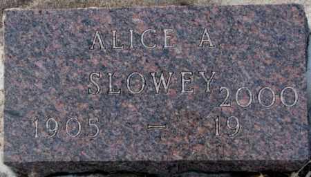 SLOWEY, ALICE A. - Yankton County, South Dakota | ALICE A. SLOWEY - South Dakota Gravestone Photos