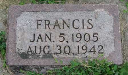 SLOWEY, FRANCIS - Yankton County, South Dakota | FRANCIS SLOWEY - South Dakota Gravestone Photos
