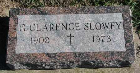 SLOWEY, G. CLARENCE - Yankton County, South Dakota | G. CLARENCE SLOWEY - South Dakota Gravestone Photos
