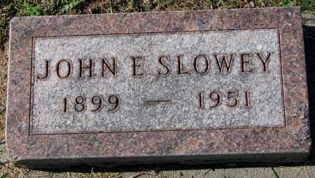 SLOWEY, JOHN E. - Yankton County, South Dakota | JOHN E. SLOWEY - South Dakota Gravestone Photos