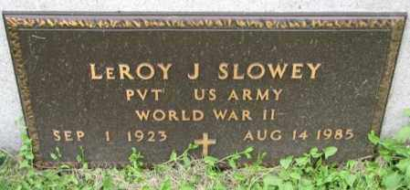 SLOWEY, LEROY J. (WW II) - Yankton County, South Dakota | LEROY J. (WW II) SLOWEY - South Dakota Gravestone Photos