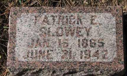 SLOWEY, PATRICK E. - Yankton County, South Dakota   PATRICK E. SLOWEY - South Dakota Gravestone Photos