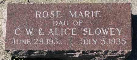 SLOWEY, ROSE MARIE - Yankton County, South Dakota | ROSE MARIE SLOWEY - South Dakota Gravestone Photos