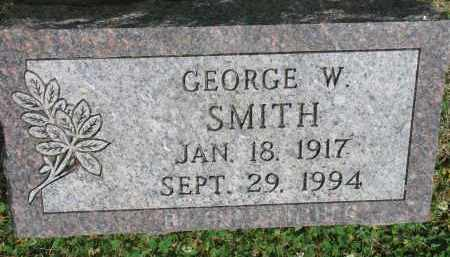 SMITH, GEORGE W. - Yankton County, South Dakota   GEORGE W. SMITH - South Dakota Gravestone Photos
