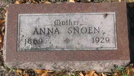SNOEN, ANNA - Yankton County, South Dakota   ANNA SNOEN - South Dakota Gravestone Photos
