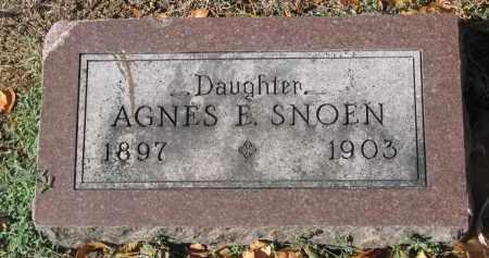 SNOEN, AGNES E. - Yankton County, South Dakota | AGNES E. SNOEN - South Dakota Gravestone Photos