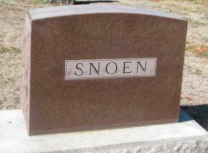 SNOEN, FAMILY STONE - Yankton County, South Dakota | FAMILY STONE SNOEN - South Dakota Gravestone Photos