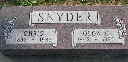 SNYDER, OLGA C. - Yankton County, South Dakota | OLGA C. SNYDER - South Dakota Gravestone Photos