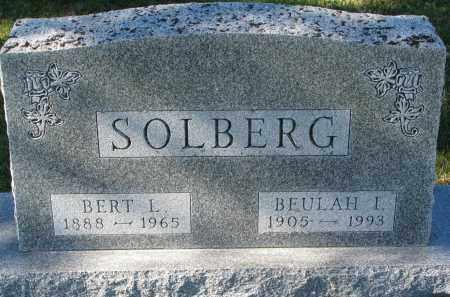 SOLBERG, BEULAH I. - Yankton County, South Dakota   BEULAH I. SOLBERG - South Dakota Gravestone Photos