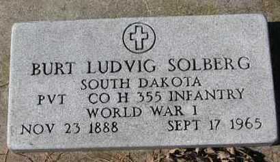 SOLBERG, BURT LUDVIG (WW I) - Yankton County, South Dakota | BURT LUDVIG (WW I) SOLBERG - South Dakota Gravestone Photos