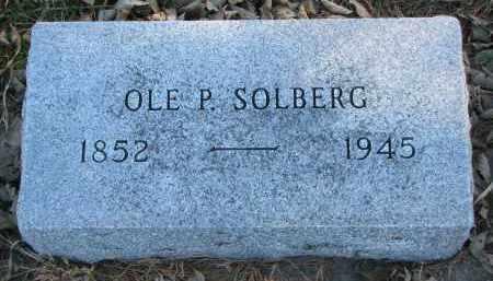 SOLBERG, OLE P. - Yankton County, South Dakota   OLE P. SOLBERG - South Dakota Gravestone Photos
