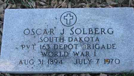 SOLBERG, OSCAR J. (WW I) - Yankton County, South Dakota   OSCAR J. (WW I) SOLBERG - South Dakota Gravestone Photos