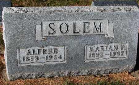 SOLEM, MARIAN P. - Yankton County, South Dakota | MARIAN P. SOLEM - South Dakota Gravestone Photos