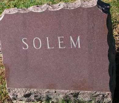 SOLEM, FAMILY STONE - Yankton County, South Dakota | FAMILY STONE SOLEM - South Dakota Gravestone Photos