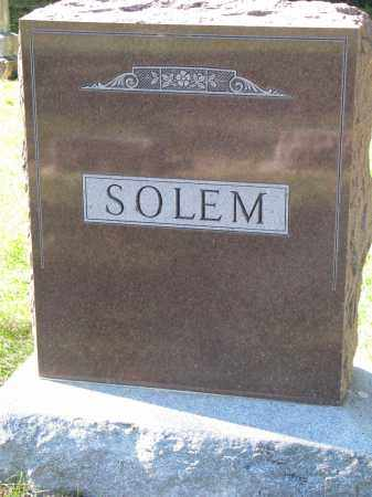 SOLEM, FAMILY STONE - Yankton County, South Dakota | FAMILY STONE SOLEM - South Dakota Gravestone Photos