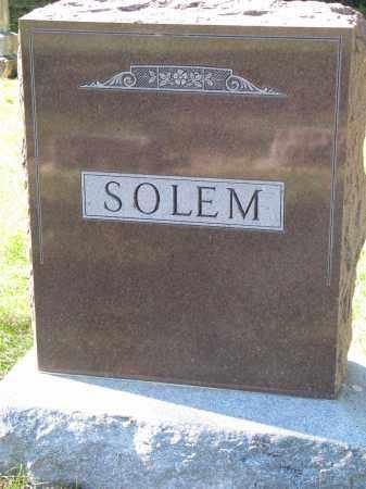 SOLEM, FAMILY STONE - Yankton County, South Dakota   FAMILY STONE SOLEM - South Dakota Gravestone Photos