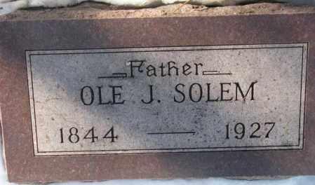 SOLEM, OLE J. - Yankton County, South Dakota | OLE J. SOLEM - South Dakota Gravestone Photos