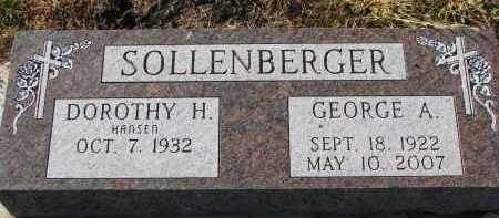 HANSEN SOLLENBERGER, DOROTHY H. - Yankton County, South Dakota | DOROTHY H. HANSEN SOLLENBERGER - South Dakota Gravestone Photos