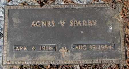 SPARBY, AGNES V. - Yankton County, South Dakota | AGNES V. SPARBY - South Dakota Gravestone Photos
