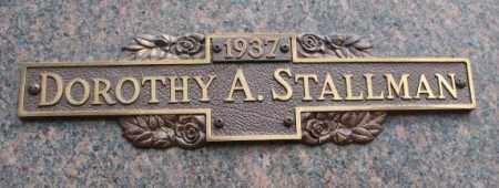 STALLMAN, DOROTHY A. - Yankton County, South Dakota | DOROTHY A. STALLMAN - South Dakota Gravestone Photos
