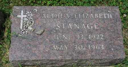 STANAGE, ALTHEA ELIZABETH - Yankton County, South Dakota | ALTHEA ELIZABETH STANAGE - South Dakota Gravestone Photos