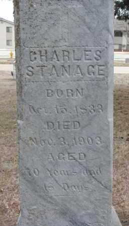 STANAGE, CHARLES (CLOSEUP) - Yankton County, South Dakota | CHARLES (CLOSEUP) STANAGE - South Dakota Gravestone Photos