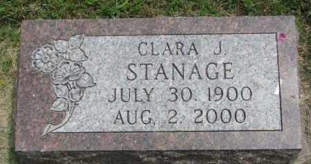 STANAGE, CLARA J. - Yankton County, South Dakota | CLARA J. STANAGE - South Dakota Gravestone Photos