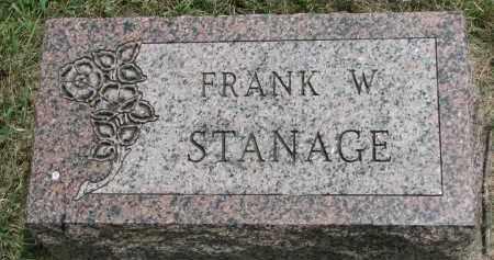 STANAGE, FRANK W. - Yankton County, South Dakota | FRANK W. STANAGE - South Dakota Gravestone Photos