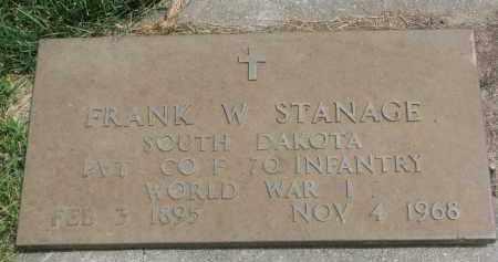 STANAGE, FRANK W. (WW I) - Yankton County, South Dakota | FRANK W. (WW I) STANAGE - South Dakota Gravestone Photos